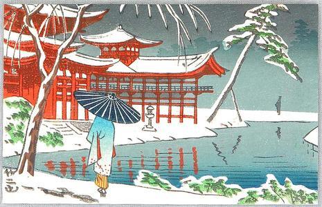 Fujishima Takeji: Byodo-in Temple — 宇治平等院 - Japanese Art Open Database