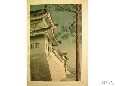Fujishima Takeji: Drizzling Rain in Nijyo Castle Kyoto - Japanese Art Open Database