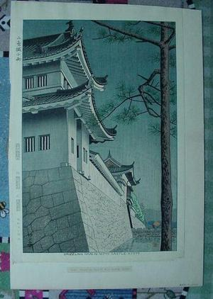 Fujishima Takeji: Drizzling Rain in Nijyo Castle Kyoto - Japanese Art Open Database
