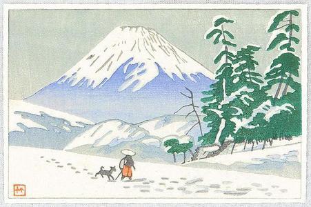 Fujishima Takeji: Mt Fuji and Traveller - Japanese Art Open Database