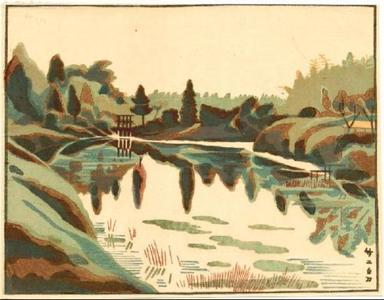 Fujishima Takeji: Pond - Japanese Art Open Database