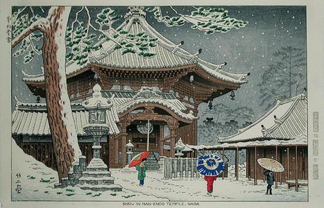 Fujishima Takeji: Snow at Nan-endo Temple - Japanese Art Open Database