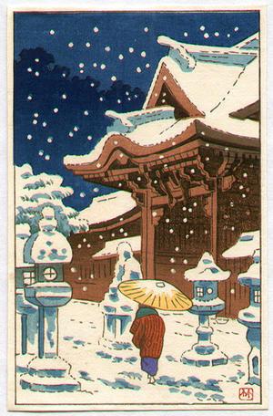 Fujishima Takeji: Stone Lanterns - Japanese Art Open Database