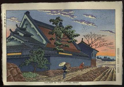 藤島武二: Twilight in the Village, Nara - Japanese Art Open Database