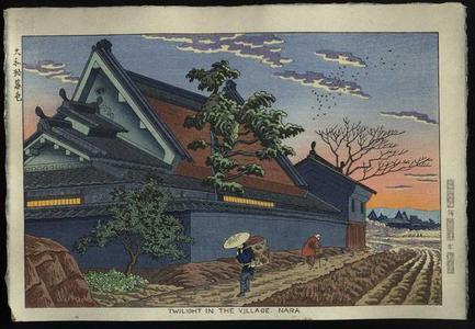 Fujishima Takeji: Twilight in the Village, Nara - Japanese Art Open Database