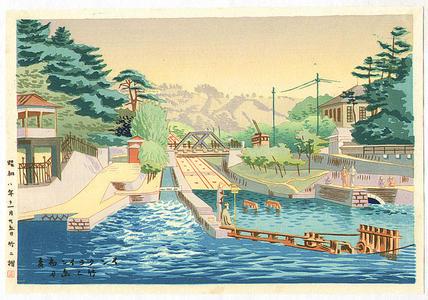 Fujishima Takeji: Early Summer at Incline — インクライン初夏 - Japanese Art Open Database