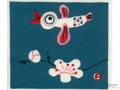 Azechi Umetaro: A Bird Flying Over A Cherry Tree Blossom - Japanese Art Open Database