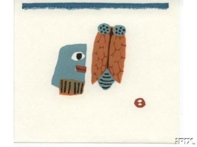 Azechi Umetaro: A man and a cicada - Japanese Art Open Database