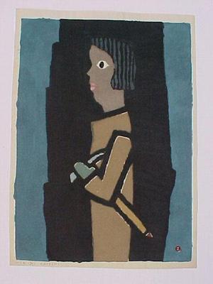 Azechi Umetaro: Girl Mountaineer - Japanese Art Open Database