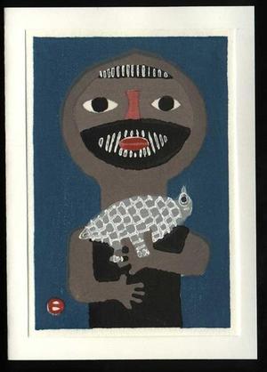 Azechi Umetaro: Mountain Man and Bird - Japanese Art Open Database
