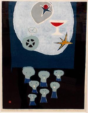 Azechi Umetaro: Space Voice — うつろな声 - Japanese Art Open Database