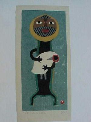 Azechi Umetaro: With The Bird - Japanese Art Open Database