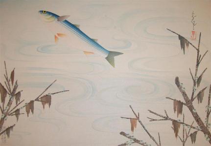 大野麦風: Flying Fish - Japanese Art Open Database