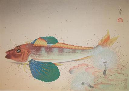 大野麦風: Sea Robin - Japanese Art Open Database