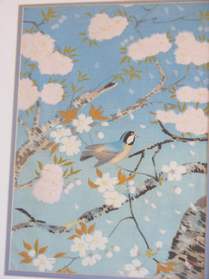 Bakufu Ohno: Bird and cherry blossoms- V2 - Japanese Art Open Database