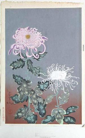 大野麦風: Chrysanthemums- Type 2 - Japanese Art Open Database
