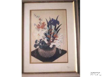 Bakufu Ohno: Flowers In Bamboo Basket (Spring) - Japanese Art Open Database