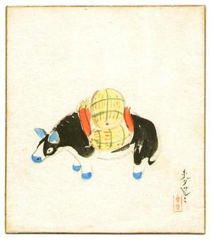大野麦風: Toy Bull - Japanese Art Open Database