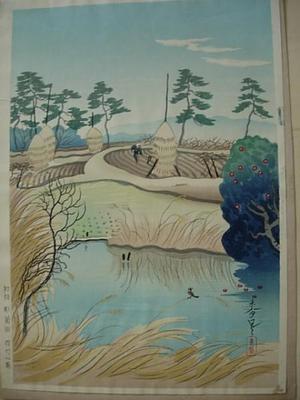大野麦風: Early Spring — 早春 - Japanese Art Open Database