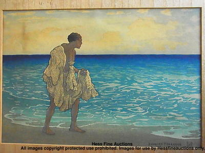 Bartlett Charles: Hawaiian Fisherman - Japanese Art Open Database
