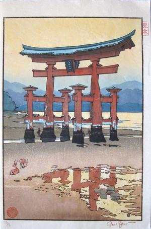 Paul Binnie: The Torii Gate at Miyajima- proof - Japanese Art Open Database