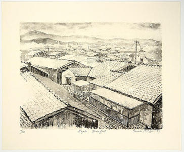 Brayer Sarah: Kyoto Snowfall- LE - Japanese Art Open Database