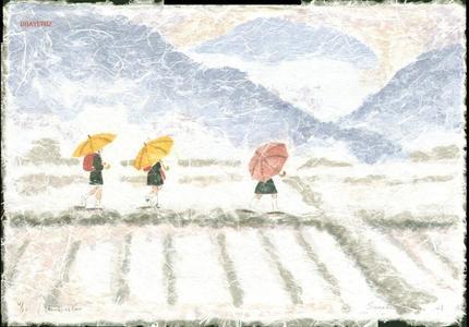 Brayer Sarah: Umbrellas - Japanese Art Open Database