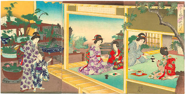 豊原周延: Womens Customs and Ceremonies — 女礼式 - Japanese Art Open Database