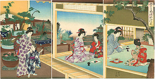 豊原周延: Womens Customs and Ceremonies — 女礼式 - Japanese Art Open Database