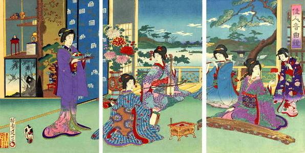 豊原周延: The Music Makers - Japanese Art Open Database