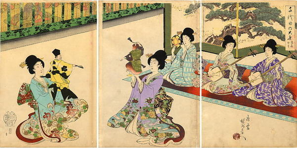 豊原周延: Puppet Theatre - Japanese Art Open Database