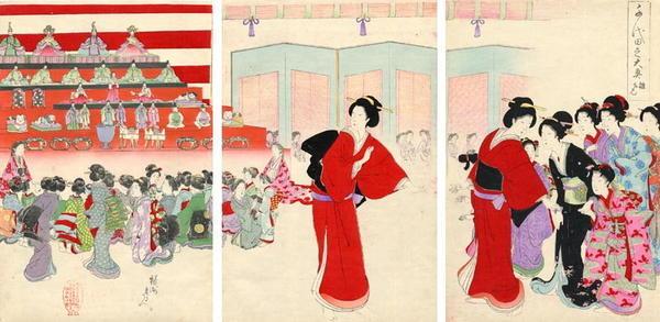 豊原周延: The Dolls Festival - Japanese Art Open Database