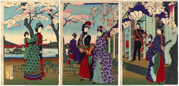 豊原周延: Ueno Park - Japanese Art Open Database