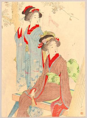 Chikuha Odake: Beauties and Cherry Blossoms - Japanese Art Open Database