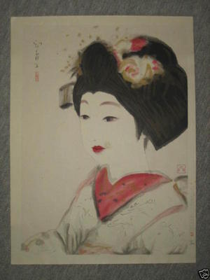 Domoto Insho: Maiko — 舞妓の図 - Japanese Art Open Database