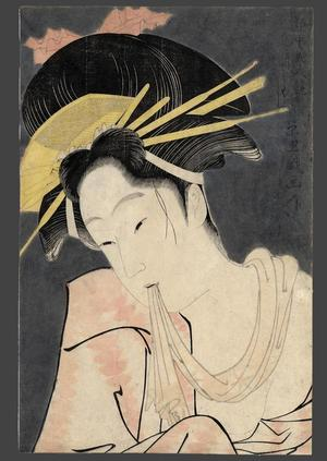 Eiri: Kashiku of the Tsuru Green House - Japanese Art Open Database