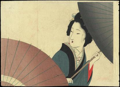 富岡英泉: Bijin and Umbrella - Japanese Art Open Database