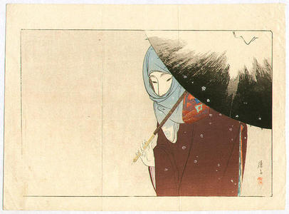 Tomioka Eisen: Snowy Day - Japanese Art Open Database
