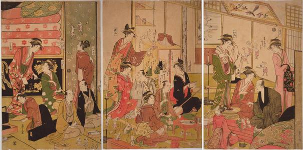 Hosoda Eishi: Good and Evil Spirits — 善玉悪玉 - Japanese Art Open Database