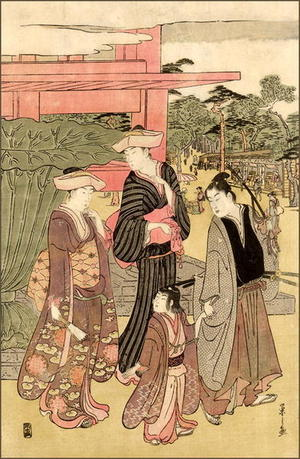 Hosoda Eishi: The Afternoon Stroll - Japanese Art Open Database