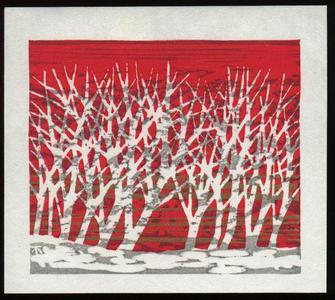北岡文雄: Akebono (Dawn) - Japanese Art Open Database