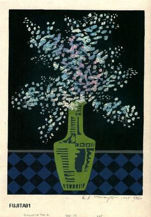 Kitaoka Fumio: Flowers and Vase A - Japanese Art Open Database