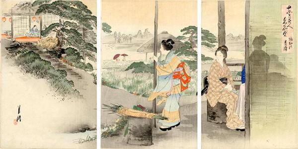 Ogata Gekko: Irises at Horikiri — 堀切の菖蒲 - Japanese Art Open Database