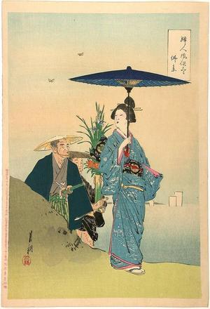 Ogata Gekko: Visit of the graves — 仰景- Hotoke mairi?? - Japanese Art Open Database