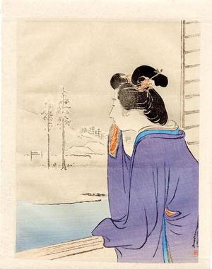 Ogata Gekko: Bijin and Winter Landscape - Japanese Art Open Database