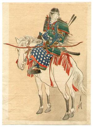 尾形月耕: Tomoe, the Female Warrior - Japanese Art Open Database