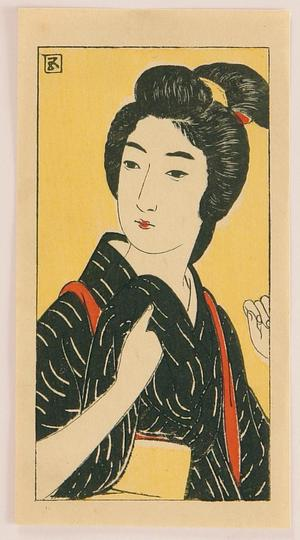 Hashiguchi Goyo: Aiko - Demon Gold - Japanese Art Open Database