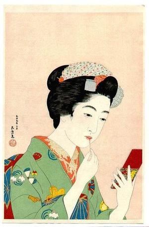 Hashiguchi Goyo: Benifude — 紅筆を持てる女 - Japanese Art Open Database