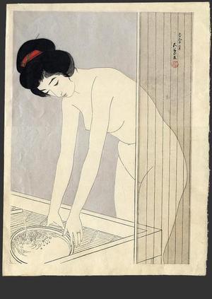 Hashiguchi Goyo: In the bath - Japanese Art Open Database