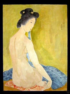 Hashiguchi Goyo: Nude After Bath- watercolour - Japanese Art Open Database